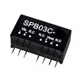 SPB03C-15, 36-48Vin 15Vout 200mA 3W DC/DC Konvertör, MeanWell