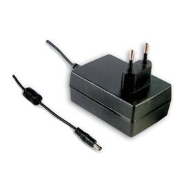 GSM36E24-P1J, 24VDC 1.5A 36W Priz Tip Medikal Adaptör, Mean Well