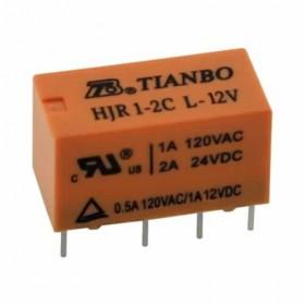 HJR1-2C-L-12V, 2A 12VDC, 2 Form C Röle