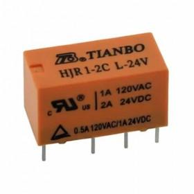 HJR1-2C-L-24V, 2A 24VDC, 2 Form C Röle