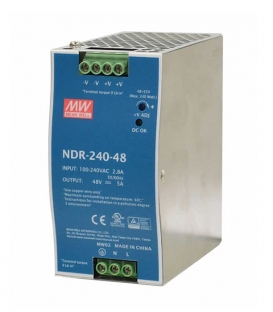NDR-240-48, 48VDC 5.0A Ray Montaj SMPS, MeanWell