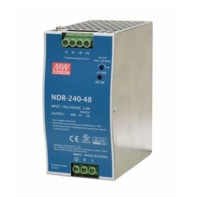 NDR-240-48, 48VDC 5.0A Ray Montaj Güç Kaynağı, MeanWell