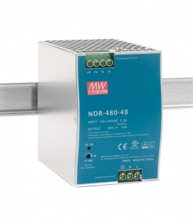 NDR-480-48, 48VDC 10.0A Ray Montaj SMPS, MeanWell