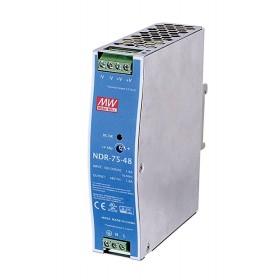 NDR-75-48, 48VDC 1.6A Ray Montaj Güç Kaynağı, MeanWell