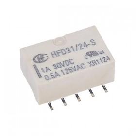 HFD31/24-S, 24VDC 2A DPDT SMD Röle