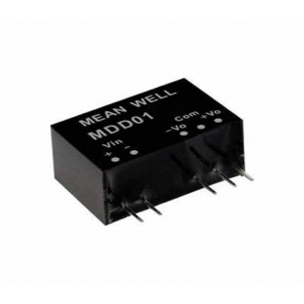 MDD01M-05, 12Vin ±5Vout ±100mA 1W DC/DC Medikal Konvertör, MeanWell