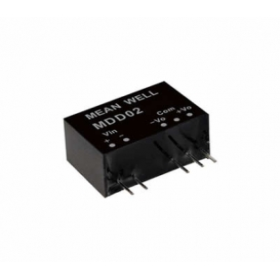 MDD02L-12, 5Vin ±12Vout ±83mA 2W DC/DC Medikal Konvertör, MeanWell