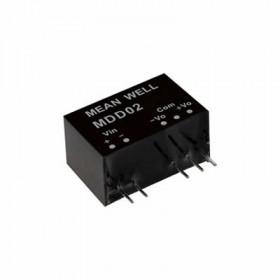 MDD02M-15, 12Vin ±15Vout ±67mA 2W DC/DC Medikal Konvertör, MeanWell
