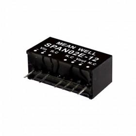 SPAN02C-03, 48Vin 3.3Vout 500mA 2W DC/DC Konvertör, MeanWell