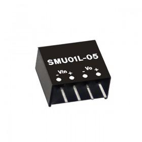 SMU01L-12, 5Vin 12Vout 84mA 1W DC/DC Konvertör, MeanWell